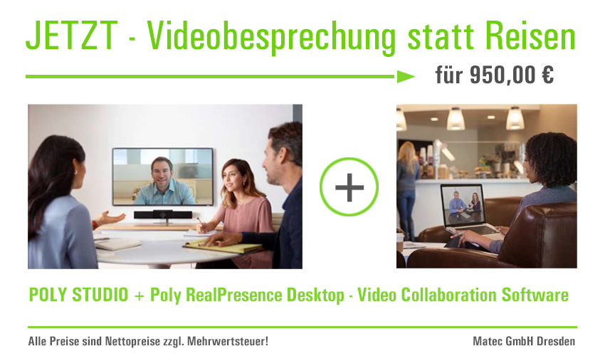 Videobesprechung statt Reisen - Poly Studio + Poly RP Desktop - Video C. Software